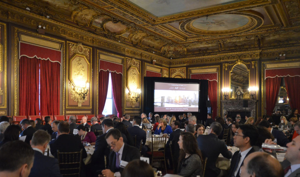 2020 AIF Annual Meeting large room of participants