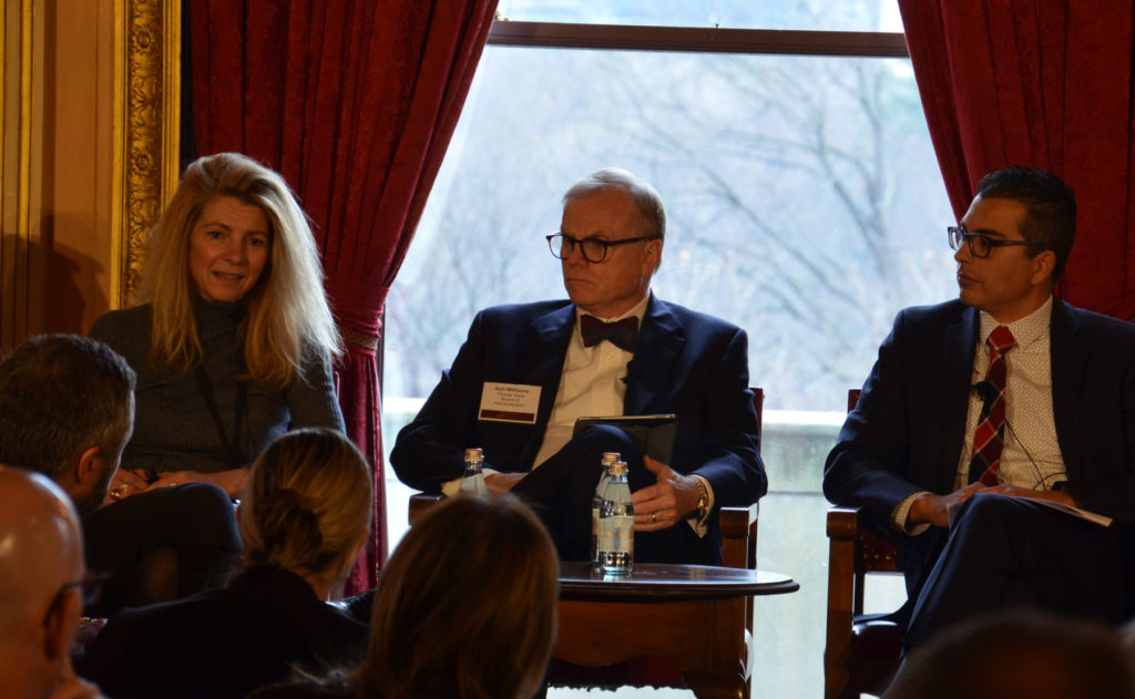 Elena Manola-Bonthond speaks at 2020 AIF Annual Investors' Meeting, along with panelists Ash Williams and Dominic Garcia