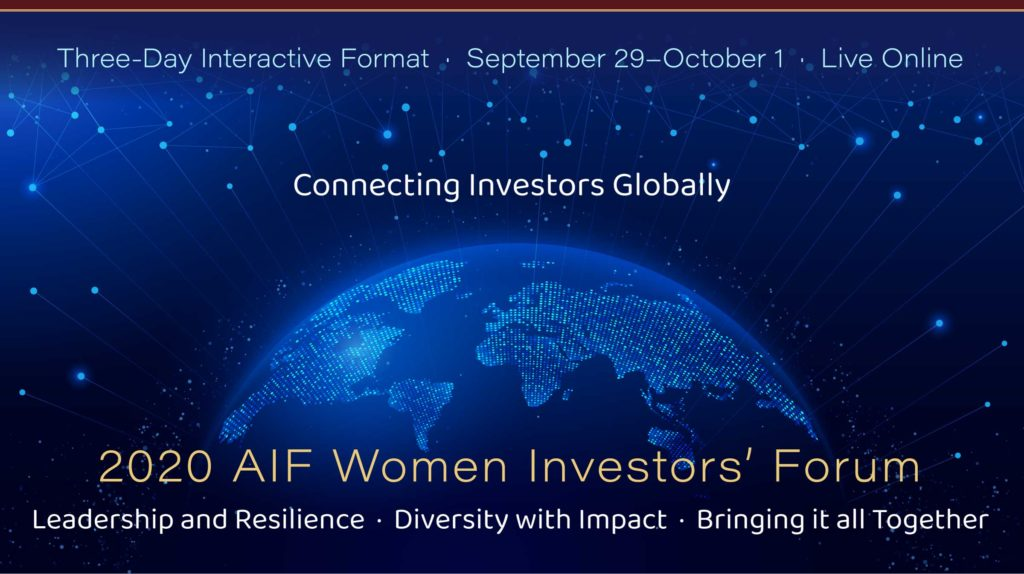 2020 AIF Women Investors' Forum, Sept. 29–Oct. 1
