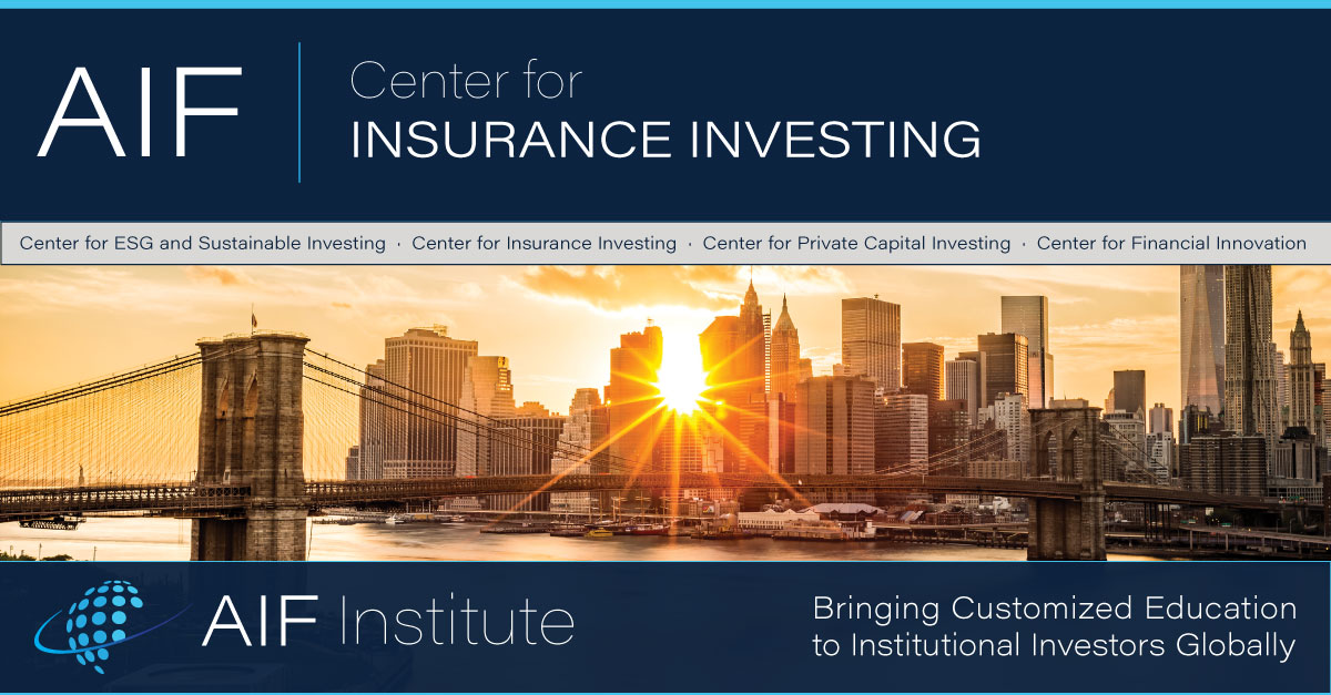 AIF Center for Insurance Investing. Photo of bridge entering New York City
